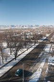 Grand junction, colorado in de winter — Stockfoto