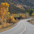 Autumn Road to Crawford, Colorado — Stock Photo