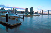 Melbourne Docklands sunset — Stock Photo