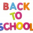 Stock Photo: Back to school alphabet letters
