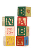 New baby wooden blocks — Stock Photo