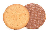Chocolate digestive biscuits — Stock Photo
