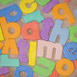 Stock Photo: Bath time letters abstract