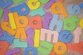 Bath time letters abstract — Stock Photo