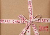 Vintage look christmas present background — Stock Photo