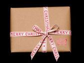 Vintage christmas present — Stock Photo