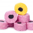 Standing out liquorice allsorts — Stock Photo