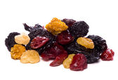 Mixed dried berries cutout — Stock Photo