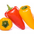 Three Sweet peppers cutout — Stock Photo #19822639