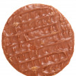 Stock Photo: Chocolate digestive biscuit