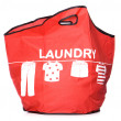 Red Laundry carry bag cut out — Stock Photo
