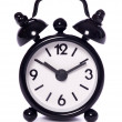 Stock Photo: Black alarm clock