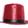Stock Photo: Red sequin stage show top hat