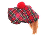 Scottish tartan hat — Stock Photo