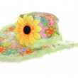 Foto de Stock  : Hippy flowery summer hat
