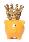 Piggybank with crown — Stock Photo