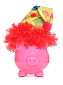 Clown piggy bank — Stock Photo