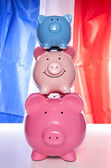 Pile of piggy banks — Stock Photo