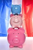Pile of piggy banks — Stock Photo