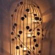 Stock Photo: Bird cage candle ornament