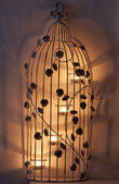 Bird cage candle ornament — Stock Photo
