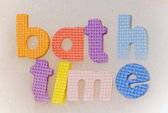 Bath time foam letters — Stock Photo