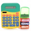 School marking stamps and calculator — Stock Photo #35242817