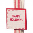 Happy holidays christmas sign — Stock Photo