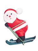 Father christmas skiing cutout — Stock Photo