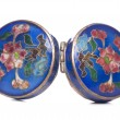 Stok fotoğraf: Antique blue enamel cloisonne snuffbox
