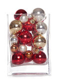 Christmas baubles in a vase — Stock Photo