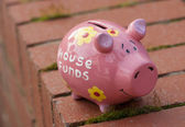 House funds piggy bank — Foto Stock