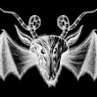 Demon with bat wings — Foto Stock