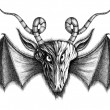 Demon with bat wings — Stock Photo #17204363