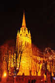 Church shined with lamps — Stock Photo