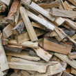 Pieces of wood cut from lumberjack — Foto Stock #12486953