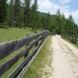 Long fence of mountain road — Foto Stock #12486962