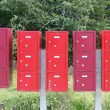 Group letterboxes in the middle of the Woods - Stock fotografie