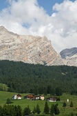 Mountains and Tyrolean houses — Stock Photo