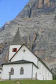 Church of the friars in the foothills of the Dolomites — Stock Photo
