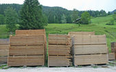 Pile of lumber cut into boards — Stock Photo