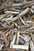 Pieces of wood cut from lumberjack to warm up — Stock Photo