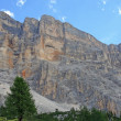 Stock Photo: Rocky wall with orange nuances of Dolomites in Italy