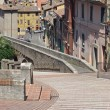 Stock Photo: Stairs and ancient Romaqueduct
