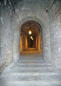 Staircase inside the Palace called the Rocca Paolina — Stock Photo