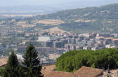 Mansions and condominiums in the town of Perugia — Stock Photo