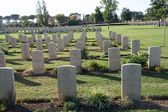 Headstones and tombs of a war cemetery — Stock Photo
