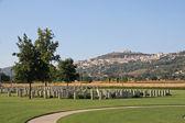 Headstones of a cemetery at war — Zdjęcie stockowe