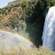 Stock Photo: Fabulous rainbow at foot of falls Marmore