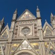 Beautiful mosaic facade of the cathedral of Orvieto in Umbria — Stock Photo